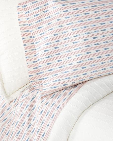 Lucie Ikat Stripe King Sheet Set