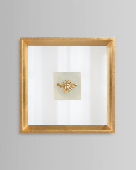"""Bee On Alabaster I"" Wall Art"