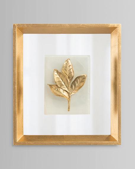 Camelia Leaf On Alabaster