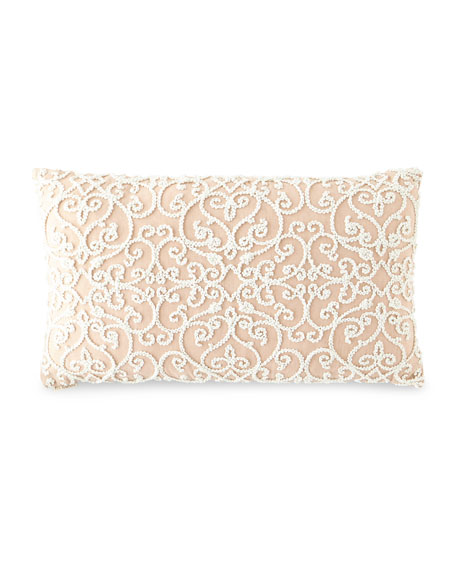 D.V. Kap Home Serafim Rose Damask Pillow