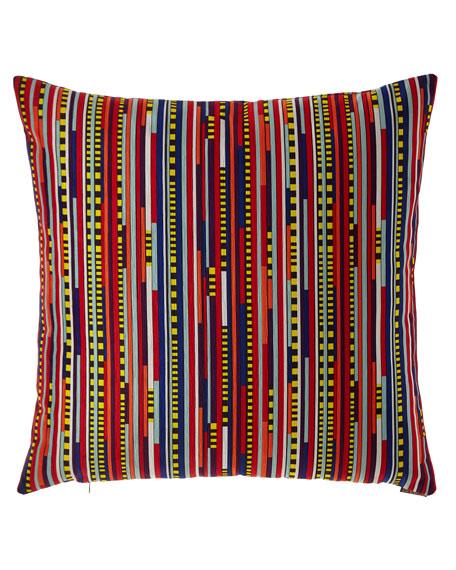 Saxon Multi-Stripe Pillow