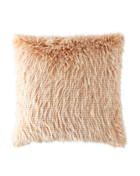 Blustery Faux-Fur Pillow