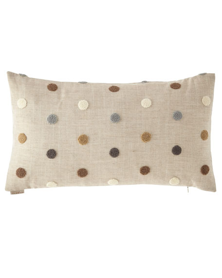 Puff Dotty Natural Pillow