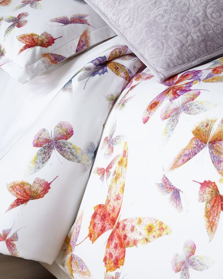 Mirabello for Neiman Marcus Butterfly Queen Duvet Cover