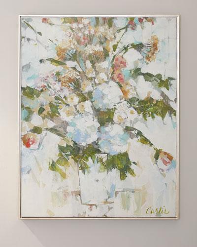 Wedding Bouquet Giclee Canvas Art by Joan Curtis
