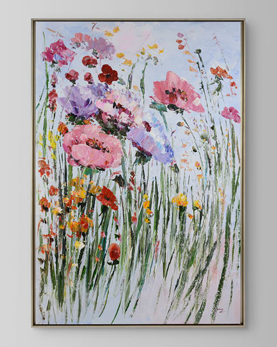 Pink Garden Canvas Art by Ping