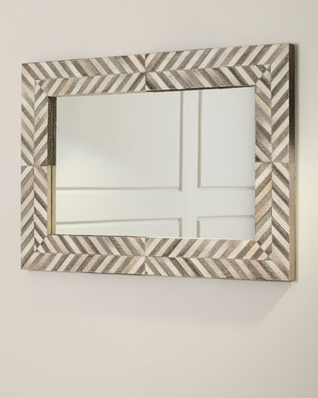 Hair on Hide Framed Mirror