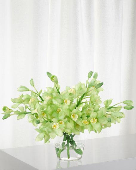 Orchid Cymbidium Green Floral Arrangement