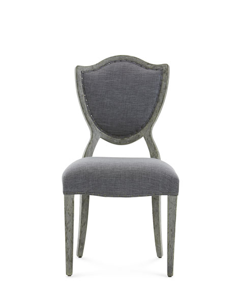 Pair of Shield Back Upholstered Side Chairs