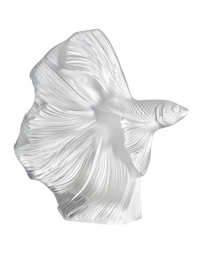 Fighting Fish Sculpture  Clear