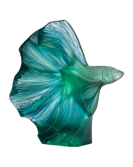 Fighting Fish Sculpture, Green