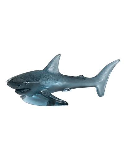 Large Shark Sculpture  Persepolis Blue