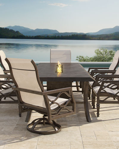 Classical Outdoor  Fire Pit Dining Table