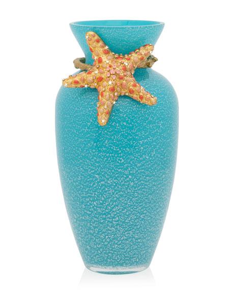 Jay Strongwater Oceana Coral Vase