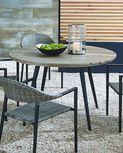 Outdoor Dining Table with Aluminum Top