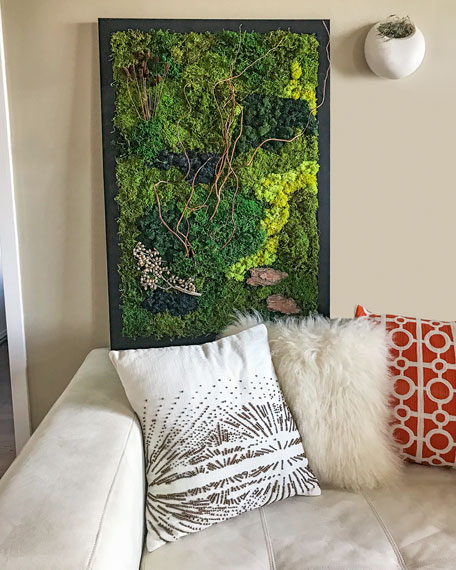 Twig Moss Wall Decor