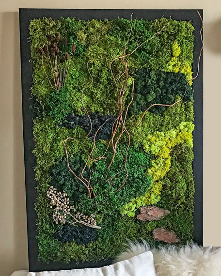 Luludi Living Art Twig Moss Wall Decor