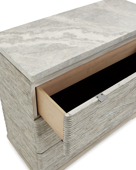Lissardi Marble Top 3-Drawer Chest