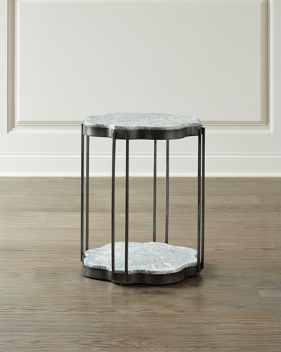 Natalie Marble Top End Table
