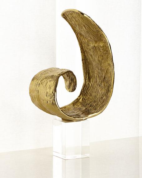 Organic Curls In Brass