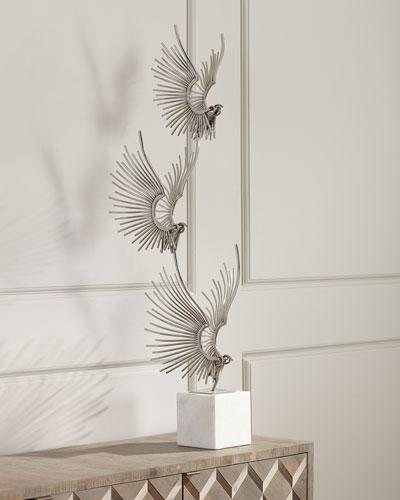 Sculpted Birds In Flight
