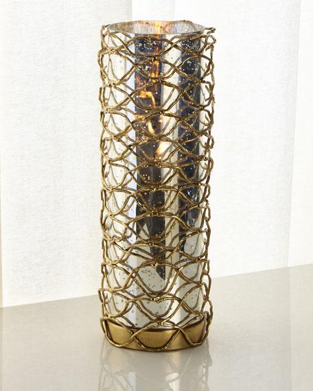 Woven Brass Candleholder II