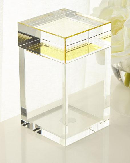 Tall Saffron Yellow Crystal Box