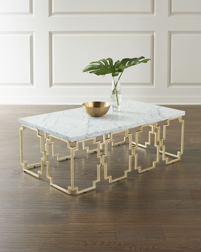 Watkins Marble Top Coffee Table