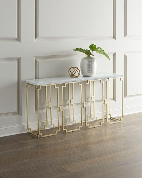 Watkins Marble Top Console Table