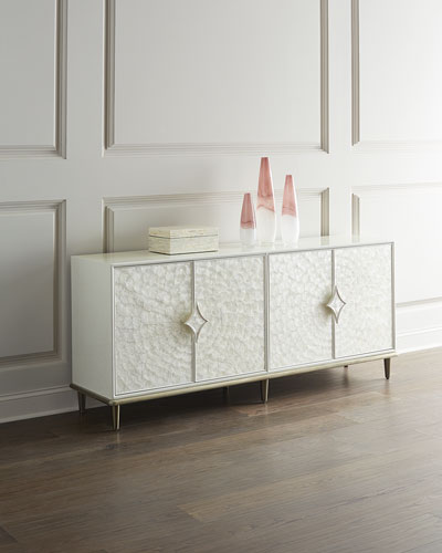 Capiz Shell Entertainment Console
