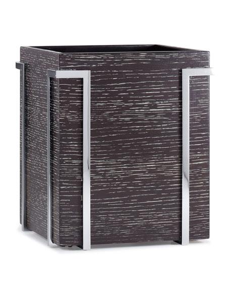 Labrazel Embrace Oak Chrome Wastebasket
