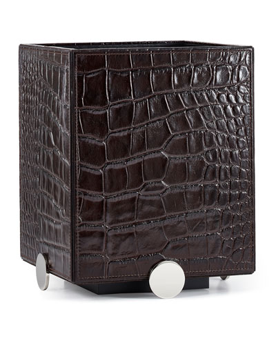 Discus Brown Wastebasket