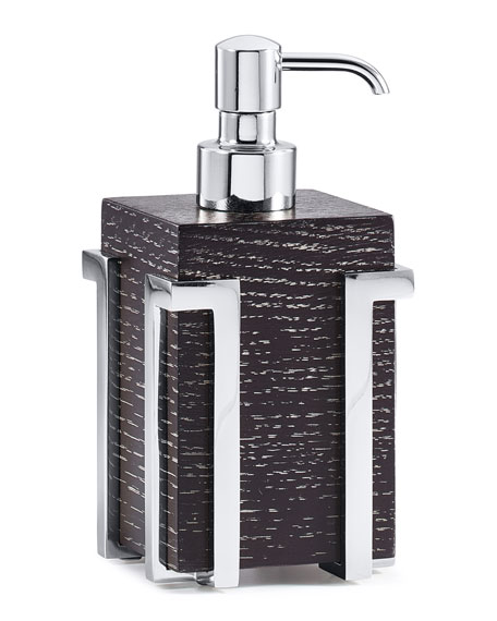 Embrace Oak Chrome Pump Dispenser