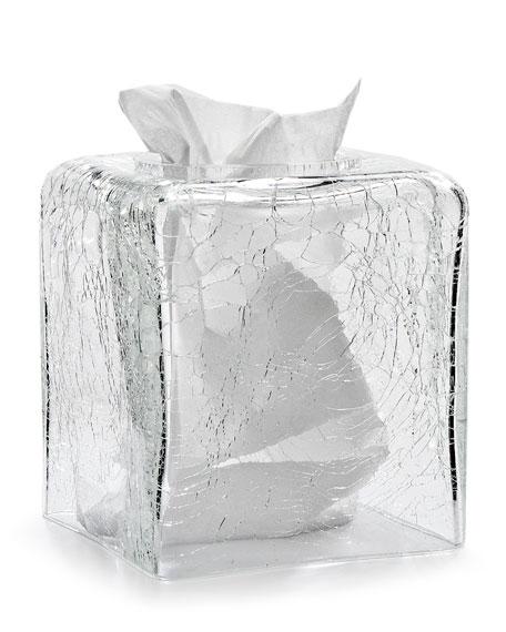 Carina Crackle Tissue Box Cover