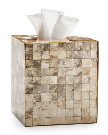 Capiz Champagne Tissue Box Cover