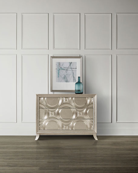 Silver Bubbles 3-Drawer Chest