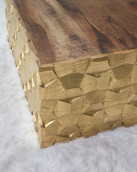 Brass Foil End Table