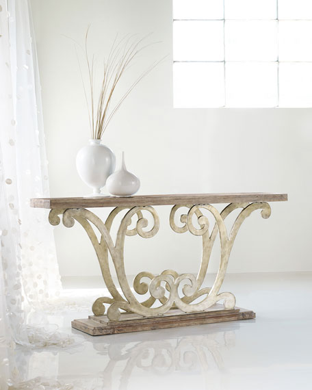 Riqua Scroll Console Table