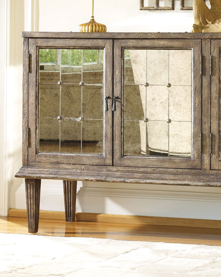 Derreth Antiqued Mirrored Console