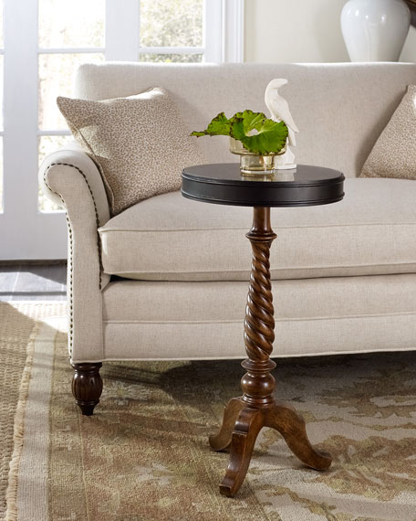 Hooker Furniture Rustic Candlestick Pedestal Accent Table