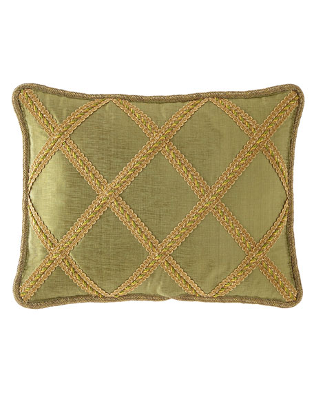 Botanical Lattice Oblong Pillow