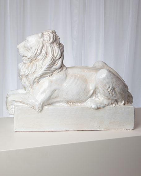 Lion Italian Ceramic Sculpture