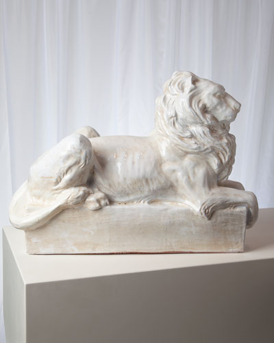 Lion Italian Ceramic Sculpture
