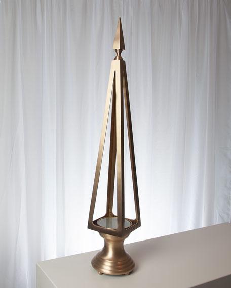 Brushed Brass Open Obelisk