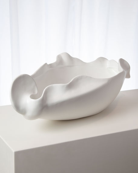 Freeform Matte White Large Bowl