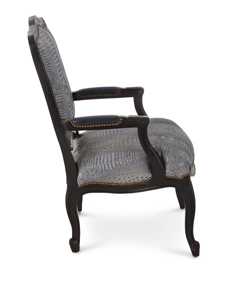 Alex Leather Bergere Chair