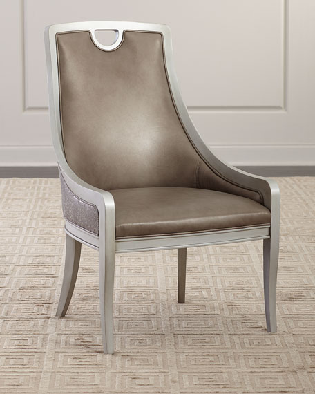 Massoud Leon Leather Dining Chair