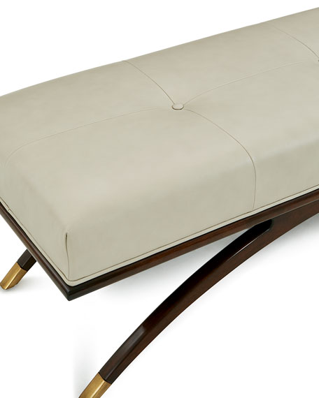 Euclidean Leather Bench