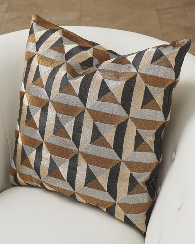 Triangle Marquetry Pillow