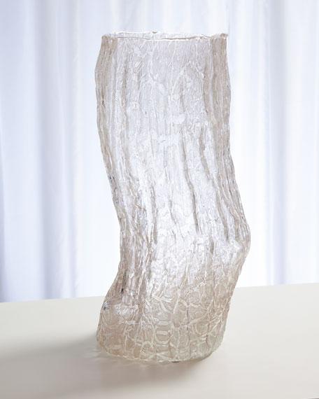 Faux Bois Glass Small Vase